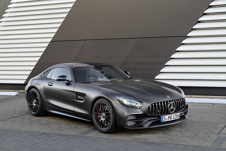 Mercedes-AMG GT C Edition 50, graphitgrau magno ;Kraftstoffverbrauch kombiniert: 11,3 l/100 km, CO2-Emissionen kombiniert: 257 g/km Mercedes-AMG GT C Edition 50, graphite grey magno; Fuel consumption combined: 11.3 l/100 km; Combined CO2 emissions: 257 g/km