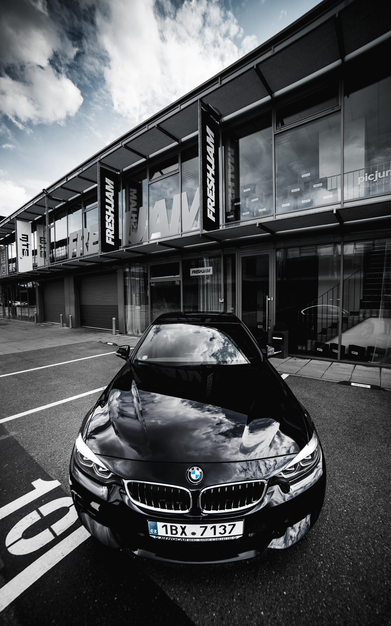 Dark BMW 4 Series at FRESHJAM HQ