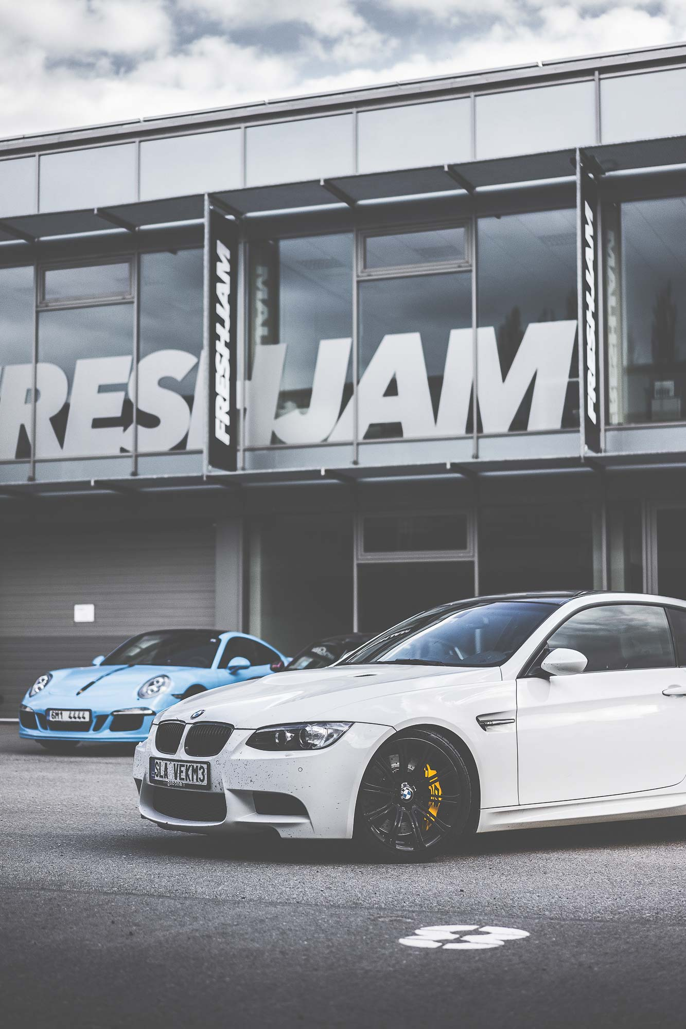 White M3 Showroom First