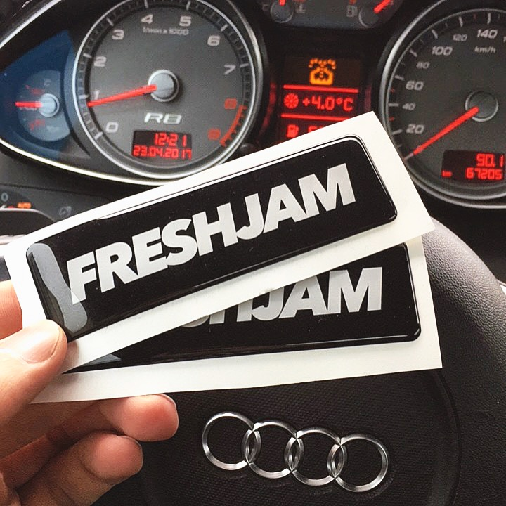 FRESHJAM 3D Stickers in R8