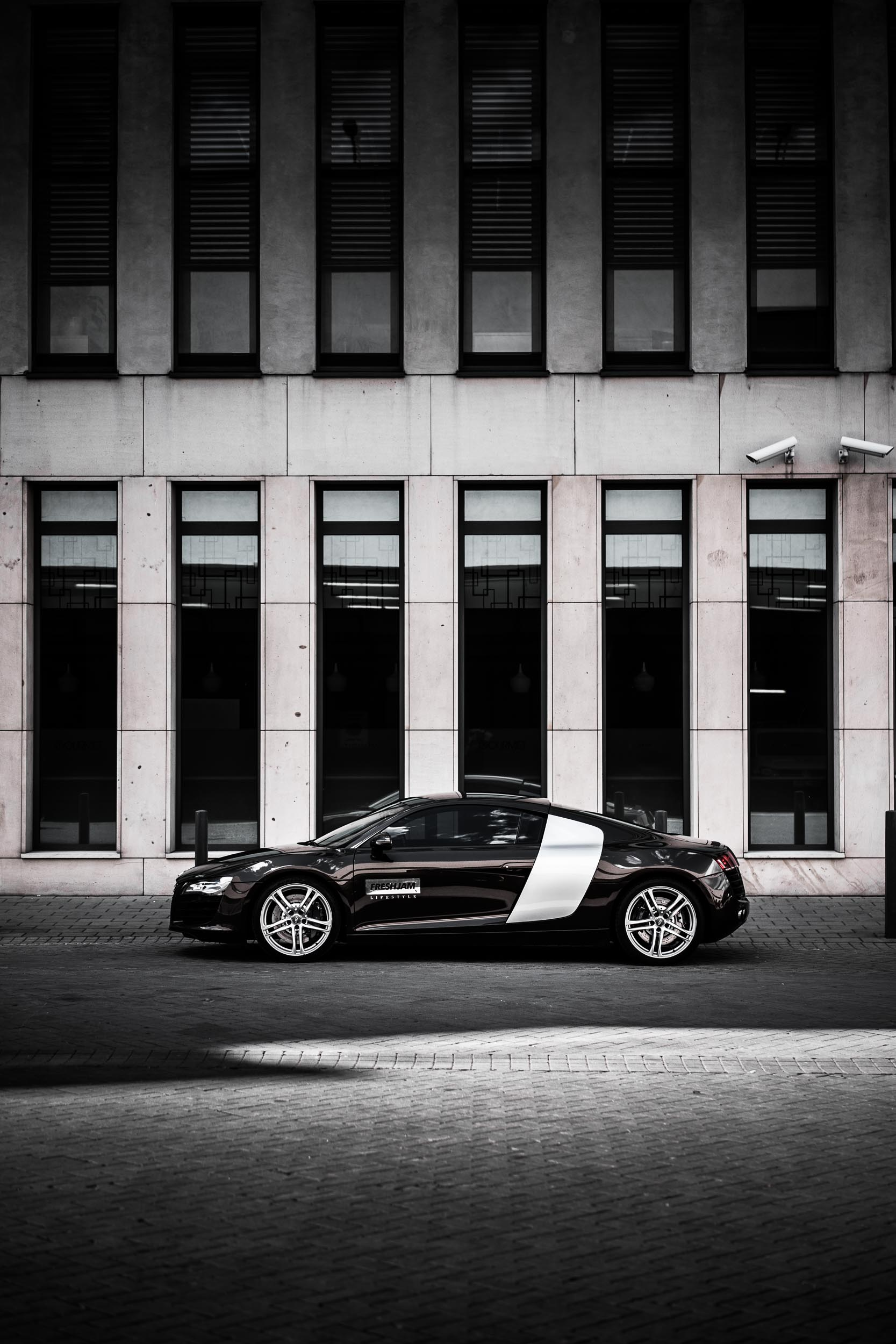 Audi R8 Architecture Symmetric iPhone Wallpaper