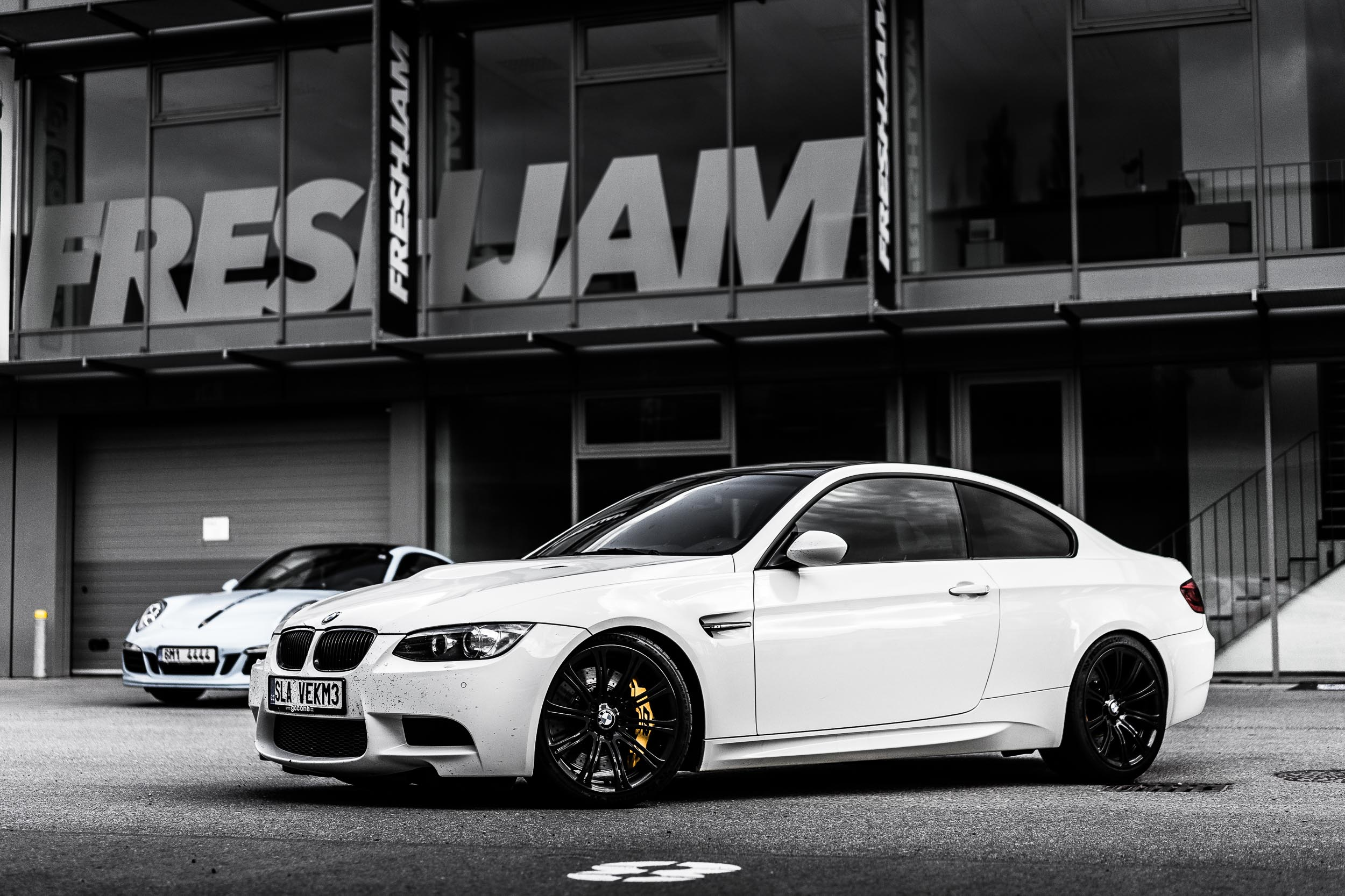 BMW M3 White desaturated
