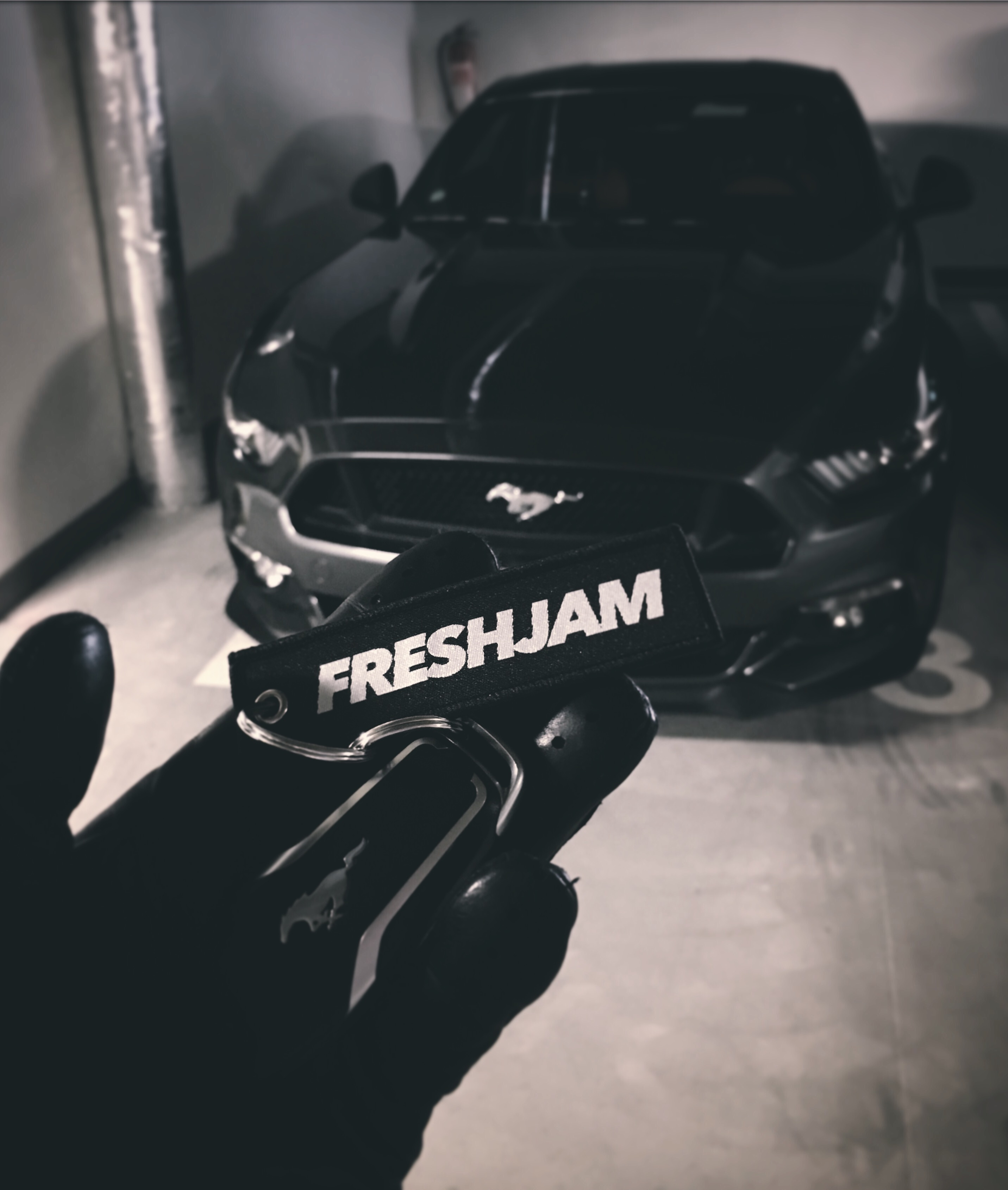 Ford Mustang GT Black Front