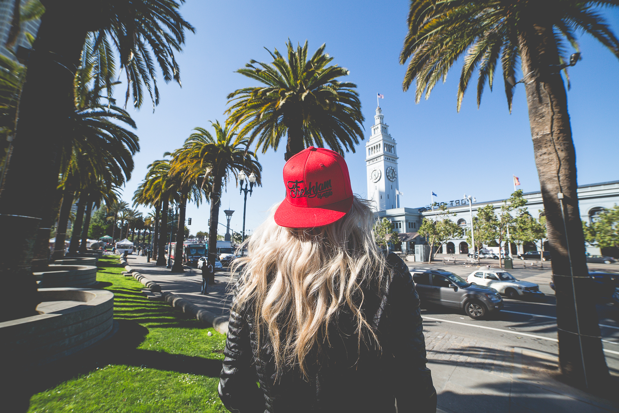Snapback Red Port of San Francisco