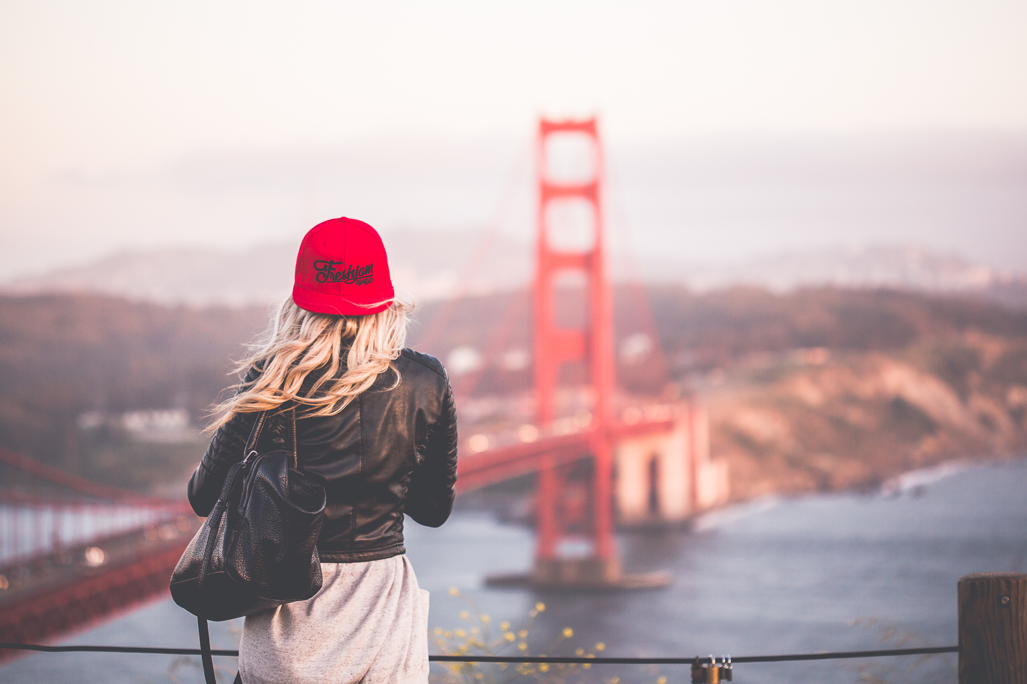 Red Snapback and GGB Wallpaper
