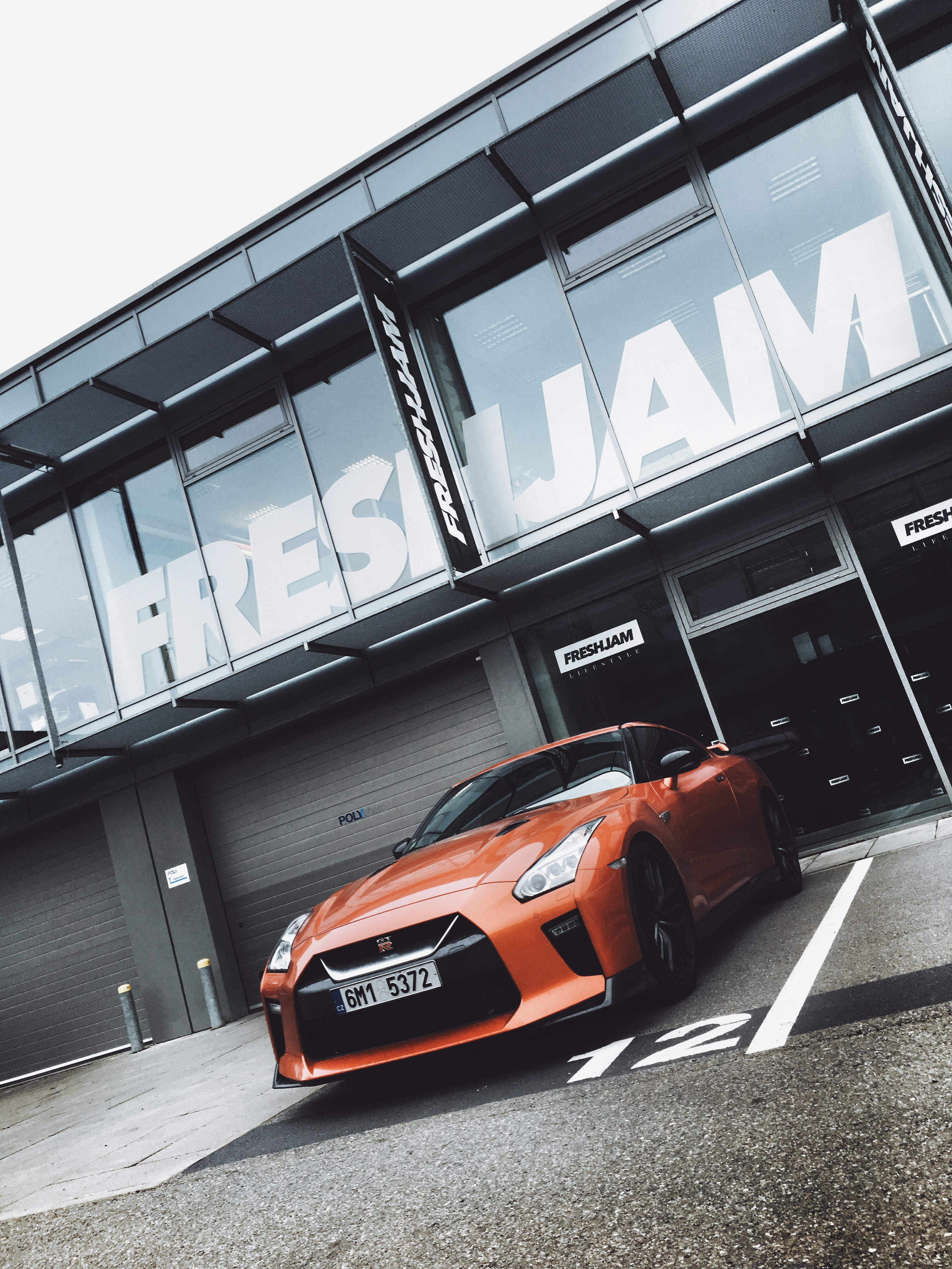 Orange GTR Showroom