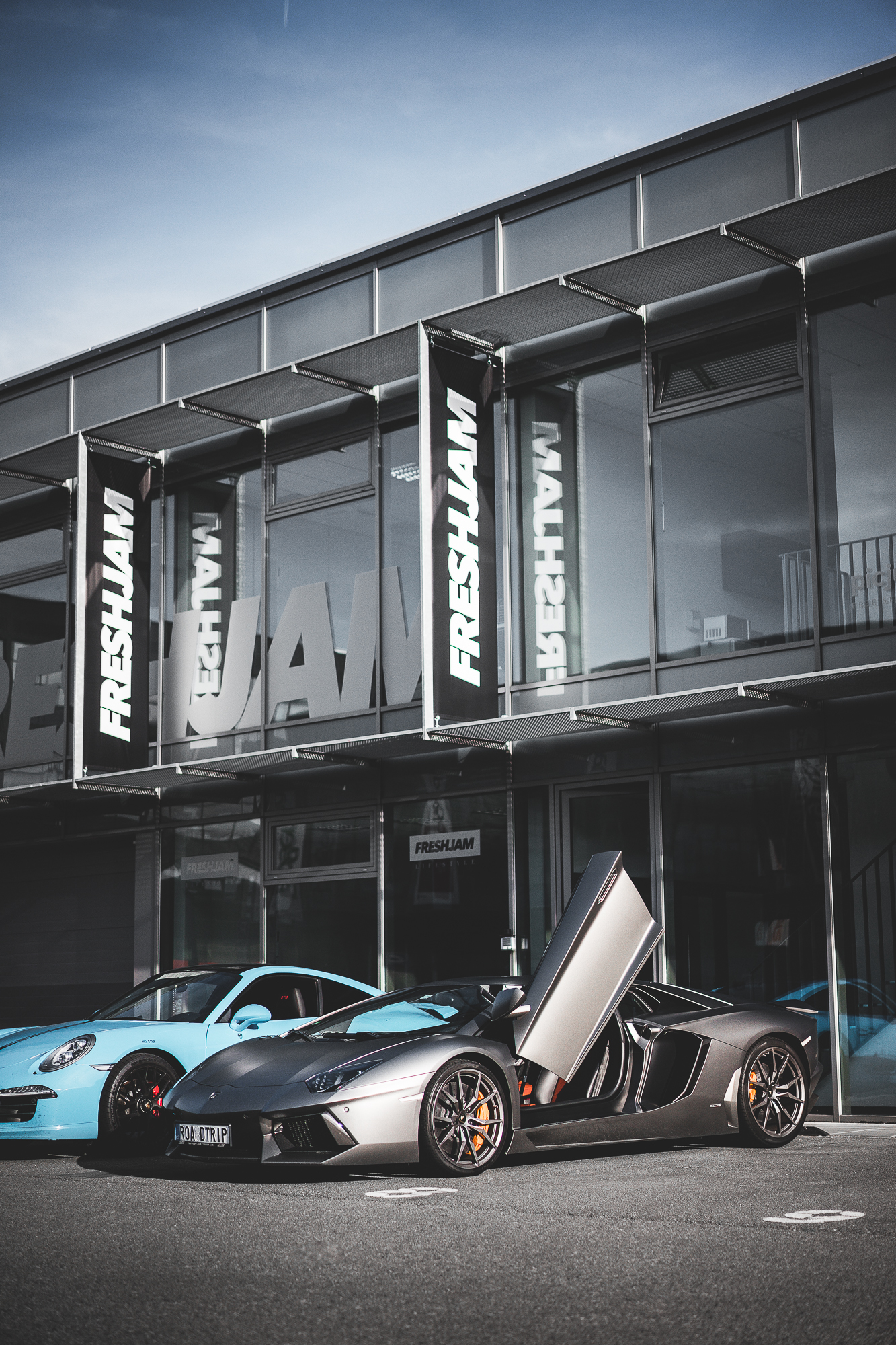 Aventador and 911 FRESHJAM HQ